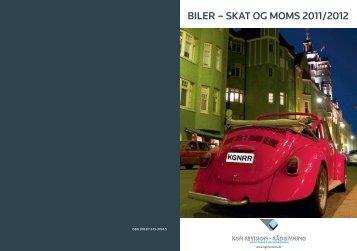 BILER – SKAT OG MOMS 2011/2012
