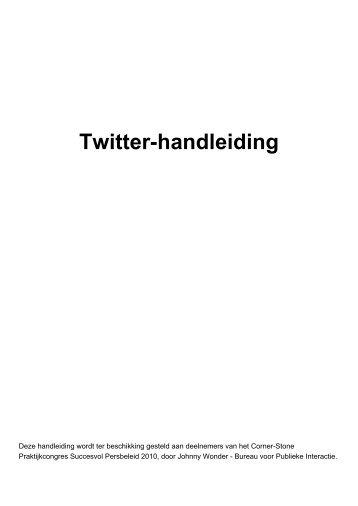 Twitter-Handleiding van Johnny Wonder - Corner-Stone