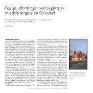 Faglige utfordringer ved bygging av middelaldergård på Stiklestad