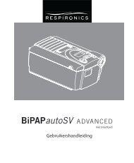 Gebruikershandleiding - BiPAP autoSV Advanced, Philips ...