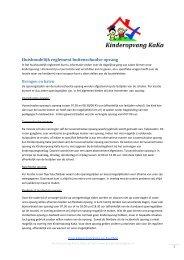 Huishoudelijk Reglement BSO - Kinderopvang KaKa