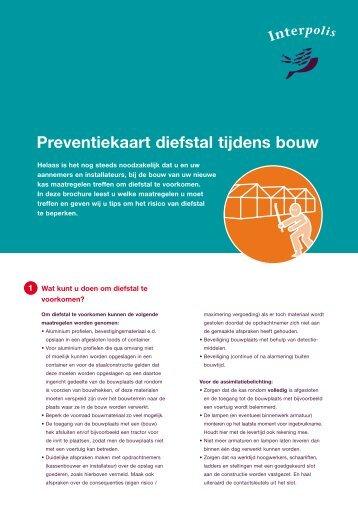 Preventiekaart diefstal tijdens bouw - Interpolis