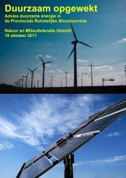Energie in Utrecht: Duurzaam opgewekt - Natuur en Milieufederatie ...
