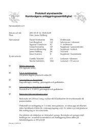 Protokoll styrelsemöte Humlevägens anläggningssamfällighet