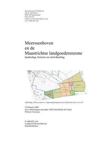 Meerssenhoven en de Maastrichtse ... - De Warande