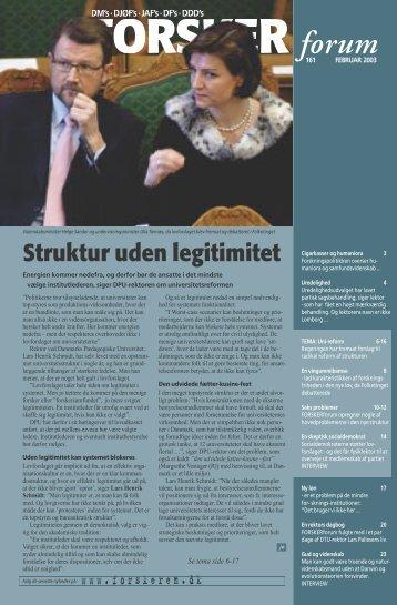 Struktur uden legitimitet - FORSKERforum