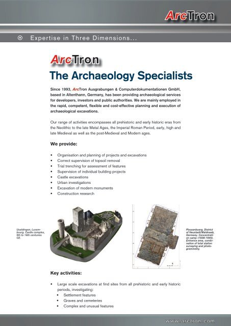 Arctron The Archaeology Specialists