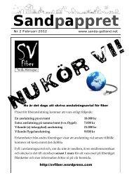Februari 2012 - Sanda Hembygdsförening