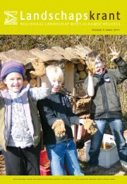 Voorjaar & zomer 2011 - Regionaal Landschap West-Vlaamse ...