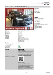 101389 Audi A4 Avant 2.0 TDI 125 kw - im Autohaus Engelhardt