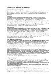 Professionals: voor wie, accreditatie - Epilepsie Vereniging Nederland