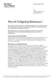 Mat och Trädgård på Bokmässan ! - Svenska Mässan