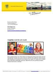 Läsglädje med lek och musik - Pedagog Stockholm