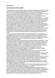 Jahreshauptversammlung 2009 - Deutsch-Britische Gesellschaft ...