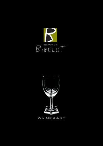 wijnkaart - Bibelot