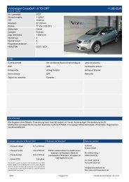 Volkswagen Crossgolf 1.9 TDI DPF 13.450 EUR - Autohaus Eckardt ...