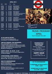 MUSIK PROGRAM APRIL - Hotel Britannia