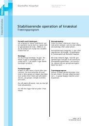 Stabiliserende operation af knæskal - EPIS - Gentofte Hospital