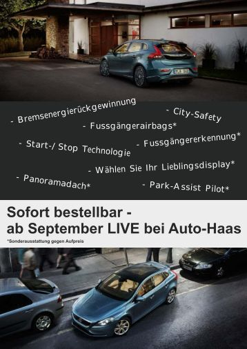 Sofort bestellbar - ab September LIVE bei Auto  ... - Auto Haas GmbH