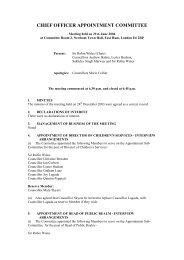 CHIEF OFFICER APPOINTMENT COMMITTEE - Meetings, agendas ...