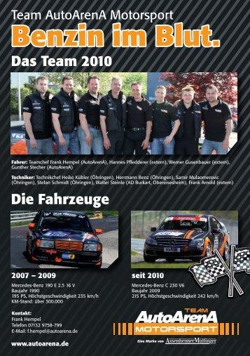 Benzin im Blut. Das Team 2010