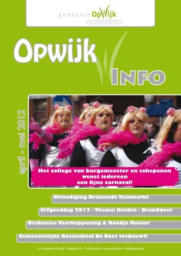 Infoblad april 2012 - Opwijk