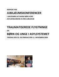 Rapporter fra 25-års-Jubilæumskonferencer nov ... - Dansk Røde Kors