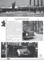 Kundeninformation Nr.7 - Autohaus Filser Gmbh