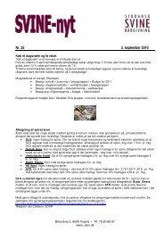 Nyhedsbrev nr. 25 - 3. september 2010 - Syddansk Svinerådgivning