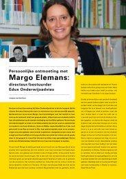 Persoonlijke ontmoeting met Margo Elemans / door Jacques ... - Edux