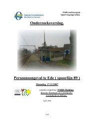 Onderzoeksverslag. Persoonsongeval te Ede ( spoorlijn 89 )