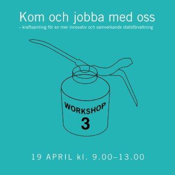 Inbjudan Workshop 3 - Innovationsrådet