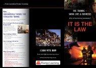 Fire Training Brochure - Australian Premier Learning