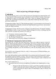 Aftale om justering af fleksjobordningen