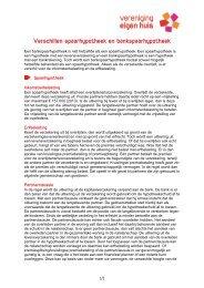 Verschillen spaarhypotheek en bankspaarhypotheek - Vereniging ...