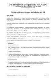 Det selvejende Boligselskab FOLKEBO - bsfolkebo.dk