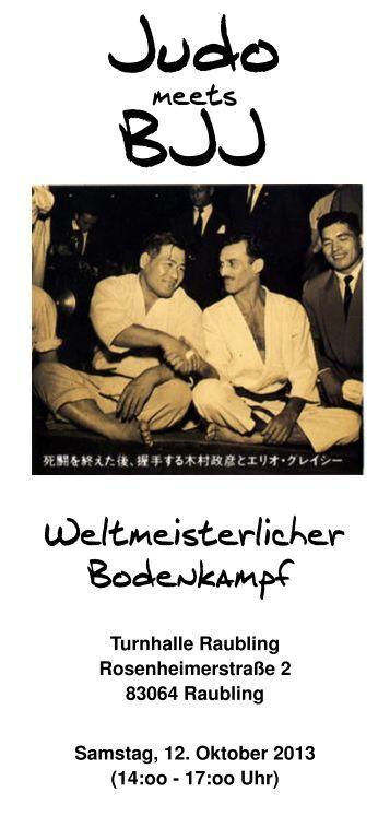 Judo meets BJJ, weltmeisterlicher Bodenkampf / 12.10.13 /