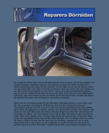 Reparation av dörrsida - Bimmer.se