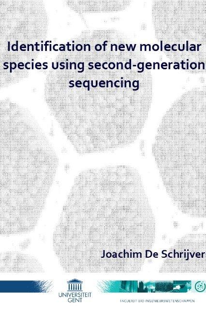 Ing Second Generation Sequencing Joachim De Schrijver