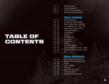 TABLE OF CONTENTS - Bikecr.com