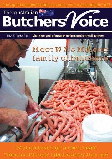 BUTCHERS VOICE OCT08.qxd - Australian Butchers' Voice