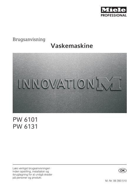 Vaskemaskine PW 6101 PW 6131 - Oebro95.dk