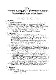 Bijlage B Reglementering van de bescherming tegen ... - Groep FJK
