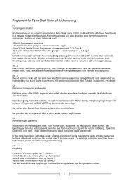 Reglement for Fyns Skak Unions Holdturnering - DSU 3. hovedkreds