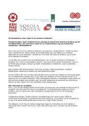 Læs pressemeddelelse udsendt 19. juni 2012 - Københavns Madhus
