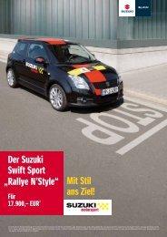 """Der Suzuki Swift Sport """"Rallye N'Style"""" - Autohaus Heinrich GmbH"""