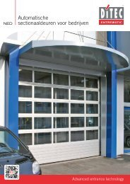 Automatische sectionaaldeuren voor bedrijven - DITEC ENTREMATIC