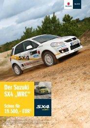 """Der Suzuki SX4 """"WRC"""" - Autohaus Heinrich GmbH"""