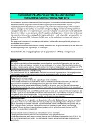 Bijlage 1 Verzekeringsvoorwaarden - De Friesland Zorgverzekeraar