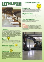 Lithurin produktbeskrivning - lantbruk